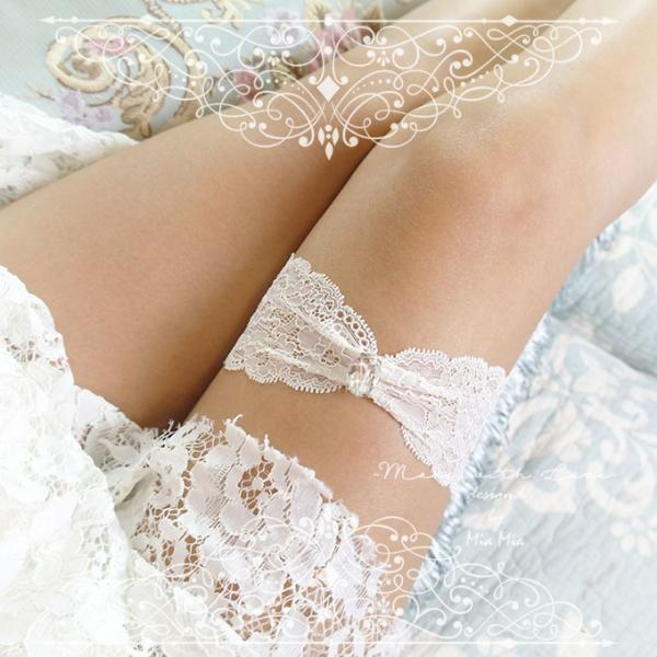 Ivory French Lace Garter , rhinestone , elegance ,Ballerina Bridal Lingerie Wedding Romantic Luxury toss keepsake
